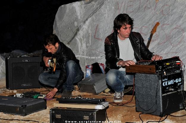 24 aprile 2013, serata della performance di Santiago Morilla, Cava Trugiano Colonanta, foto courtesy Sergio Tramontana.