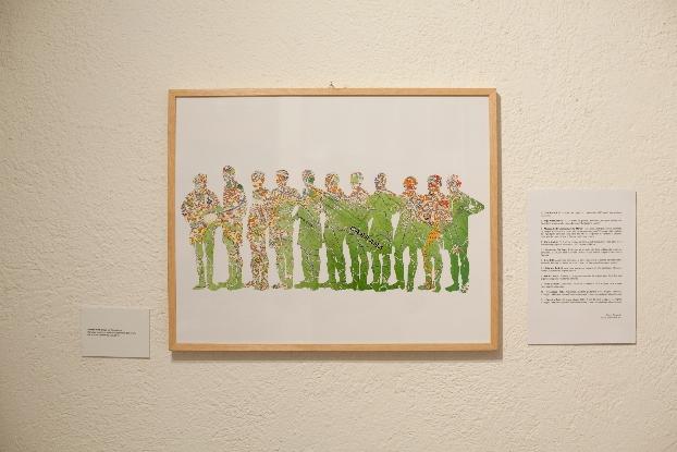 Andrew Rutt, Diego (La Resistenza)  Stampa a colori con inchiostri pigmentati, 60x43 cm Site specific per DATABASE, 2012  Photo: Albrecht Tübke