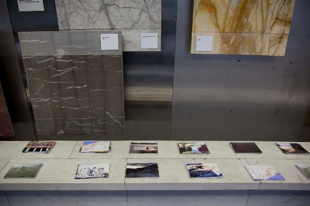 Robert Pettena, Topografia Libertaria  Cartoline 15x10,5 cm  site specific per DATABASE 2012  Photo: courtesy Robert Pettena