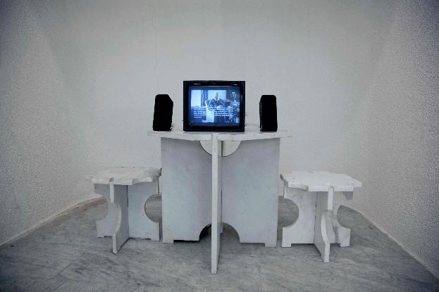 Robert Pettena, Carrara: Cavatori e Anarchia  Video documentario  Site specific per DATABASE, 2012 Photo: courtesy Robert Pettena