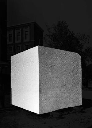 Stefano Canto, Piedistallo  Stampa Ultrachrome K3 su carta Hahnemühle, 72x100 cm 2012, archivio Istituto Luce, Roma Photo: courtesy Stefano Canto