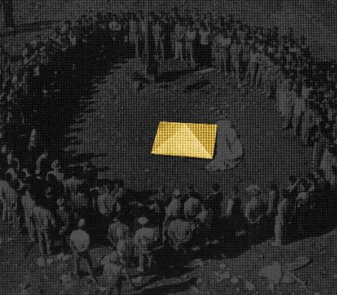 Stefano Canto, Pyramidion  Stampa Ultrachrome K3 su carta Hahnemühle, 66x70 cm 2012, archivio Istituto Luce, Roma  Photo: courtesy Stefano Canto