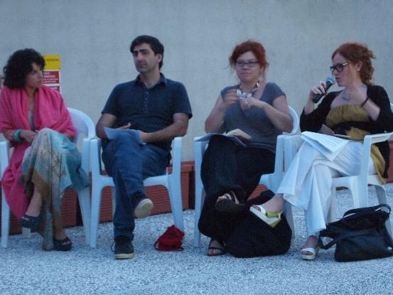 Da sinistra: Federica Forti, Yuri Ancarani,  Elena  Marcheschi, Giulia Simi Photo: courtesy Mauro Cuppone
