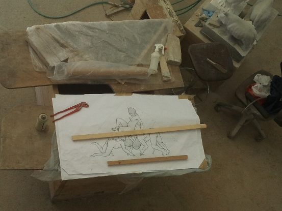Bassorilievo work in progress