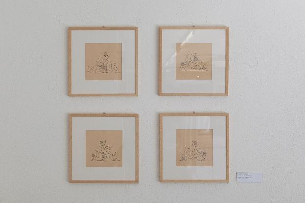 Santiago Morilla, disegni preparatori per INDEX FALLS inchiosto e penna su foglio A4, 2013. Courtesy Stefano Lanzardo