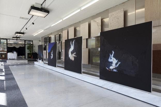 Santiago Morilla, Carrara Marble Falls # 1,2,3,4 Stampa Fine Art Epson inkjet su carta Hahnemuhle 305gr 120x120 cm performance site-specific realizzata alle cave di marmo di Colonnata 2013. Courtesy Stefano Lanzardo