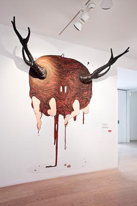 Santiago Morilla, Detonatiòn para una entrada, opera muraria, installazione nella hall del ABC Museum, Spagna,foto by Mirta Rojo.jpg